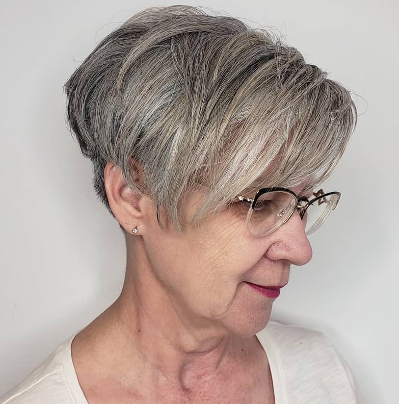 Short Undercut Hairstyle Over 60