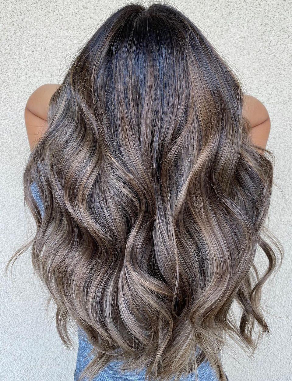 Dark Mushroom Hair with Ash Brown Ends