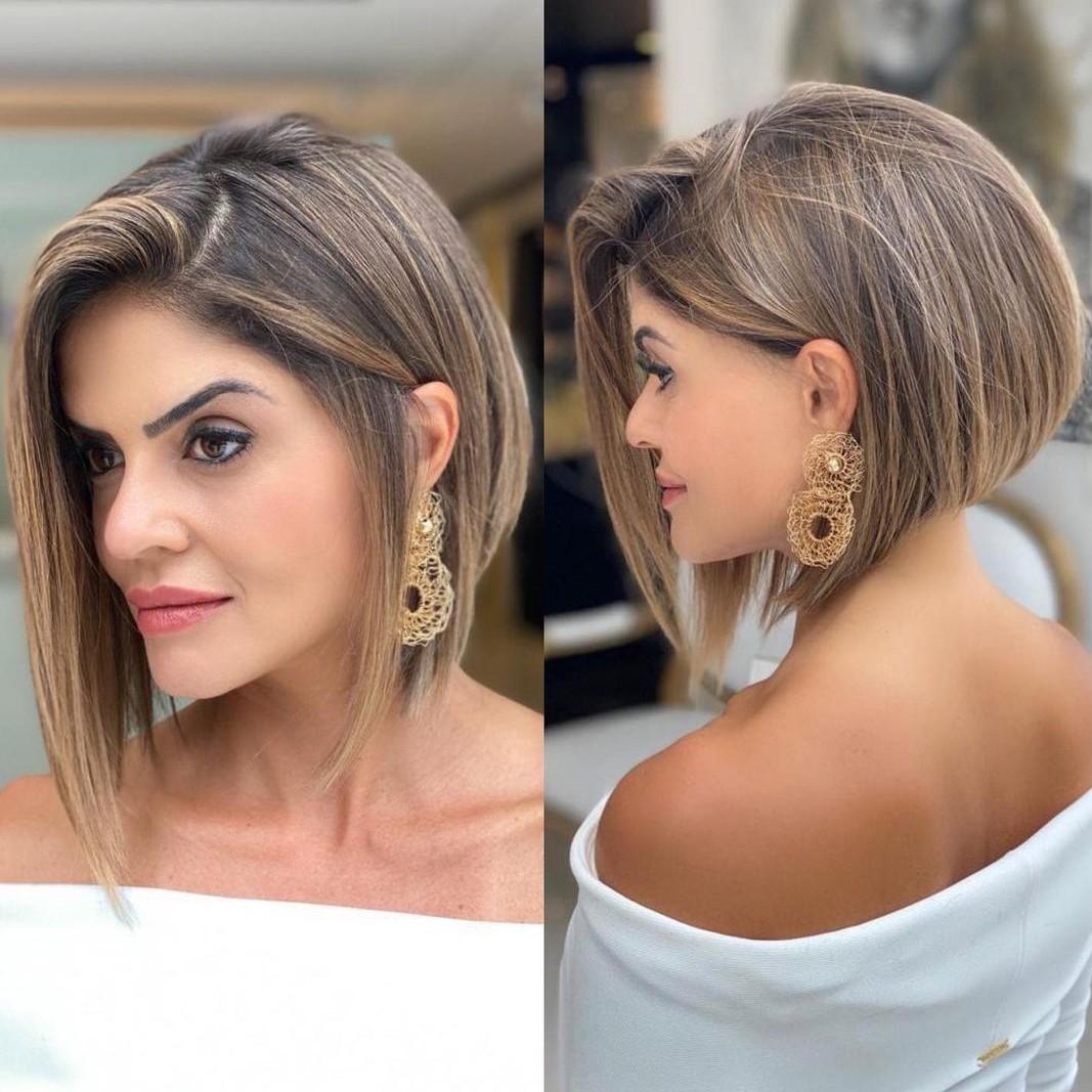 Stacked Asymmetric Cut for Fine Hair
