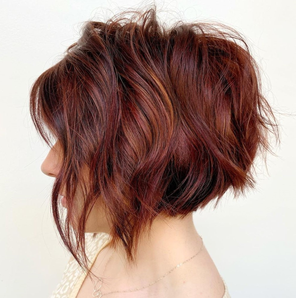 Short Hair with Highlights and Lowlights