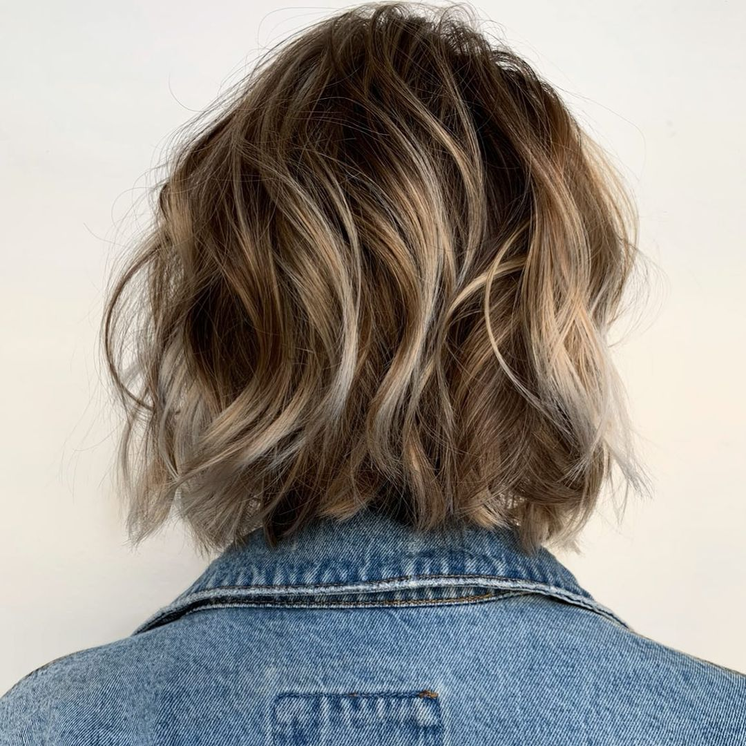 Platinum Highlights for Short Brown Hair