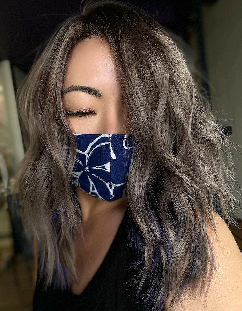 Light Mushroom Hair with Highlights