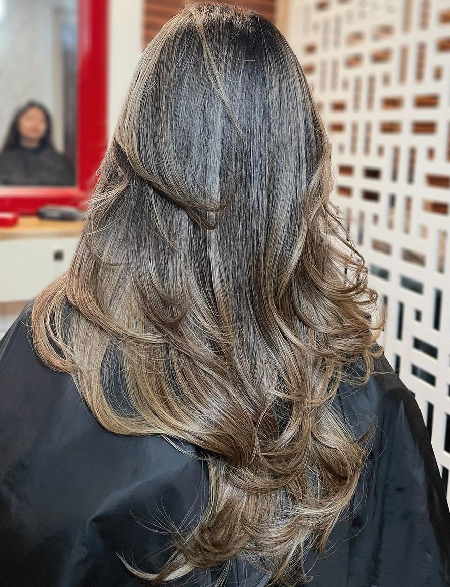 V-Cut Shag with Tousled Layers