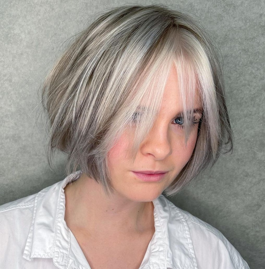 Silver Highlights and Lowlights for Short Hair