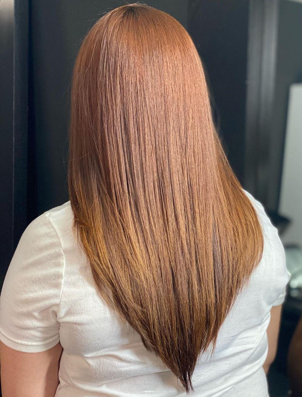 Bold Copper V Shape Cut