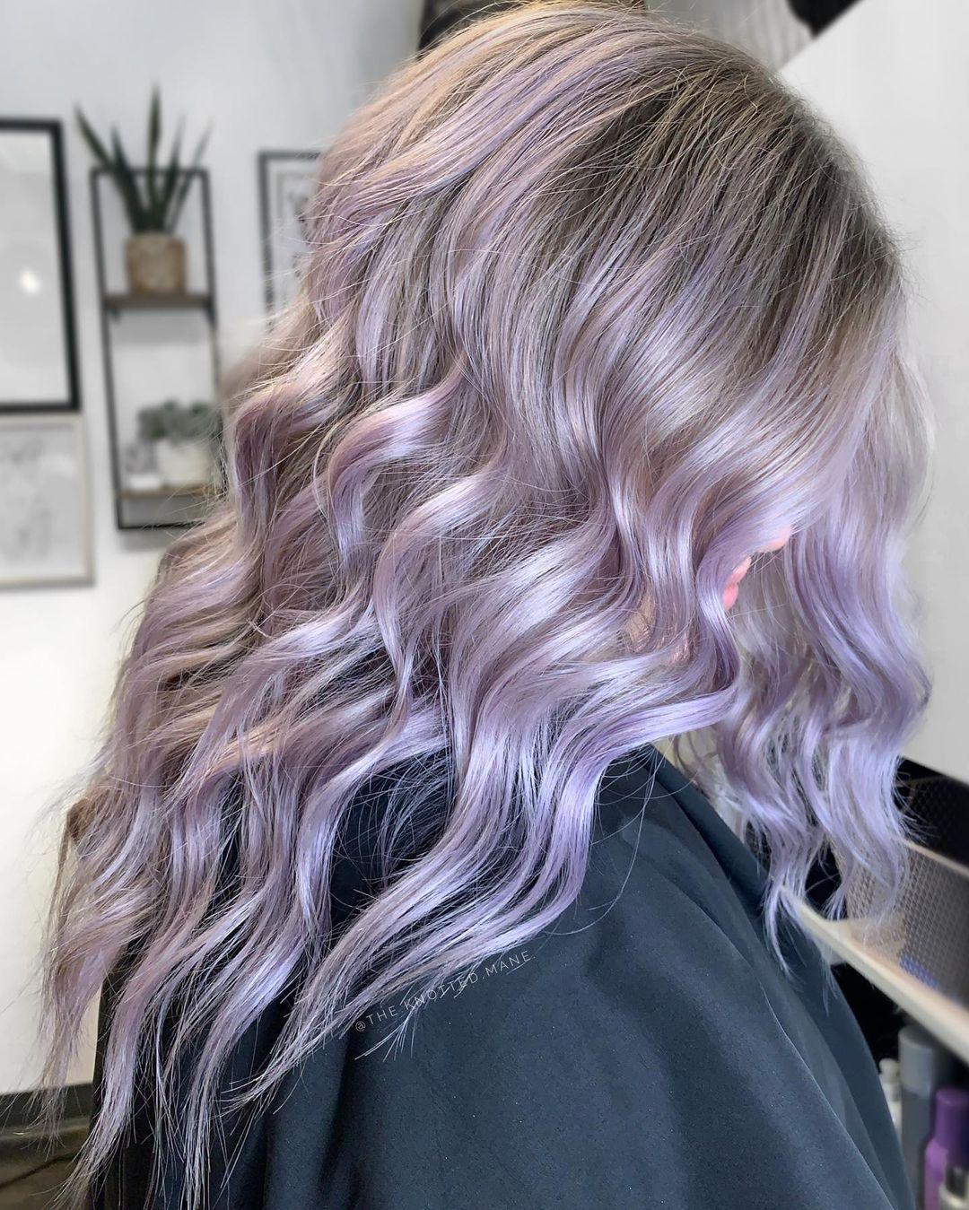 Delicate Pastel Purple Hair Color