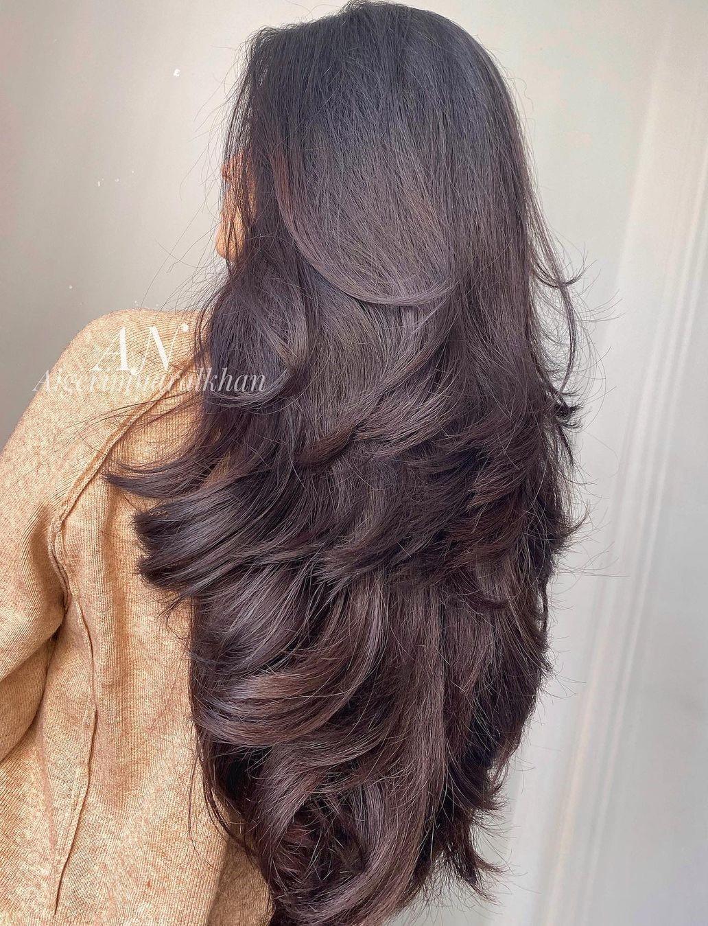 V Shape Cut for Long Thick Hair