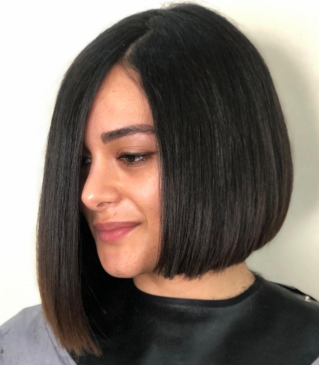 Straight Asymmetrical Bob Hairstyle