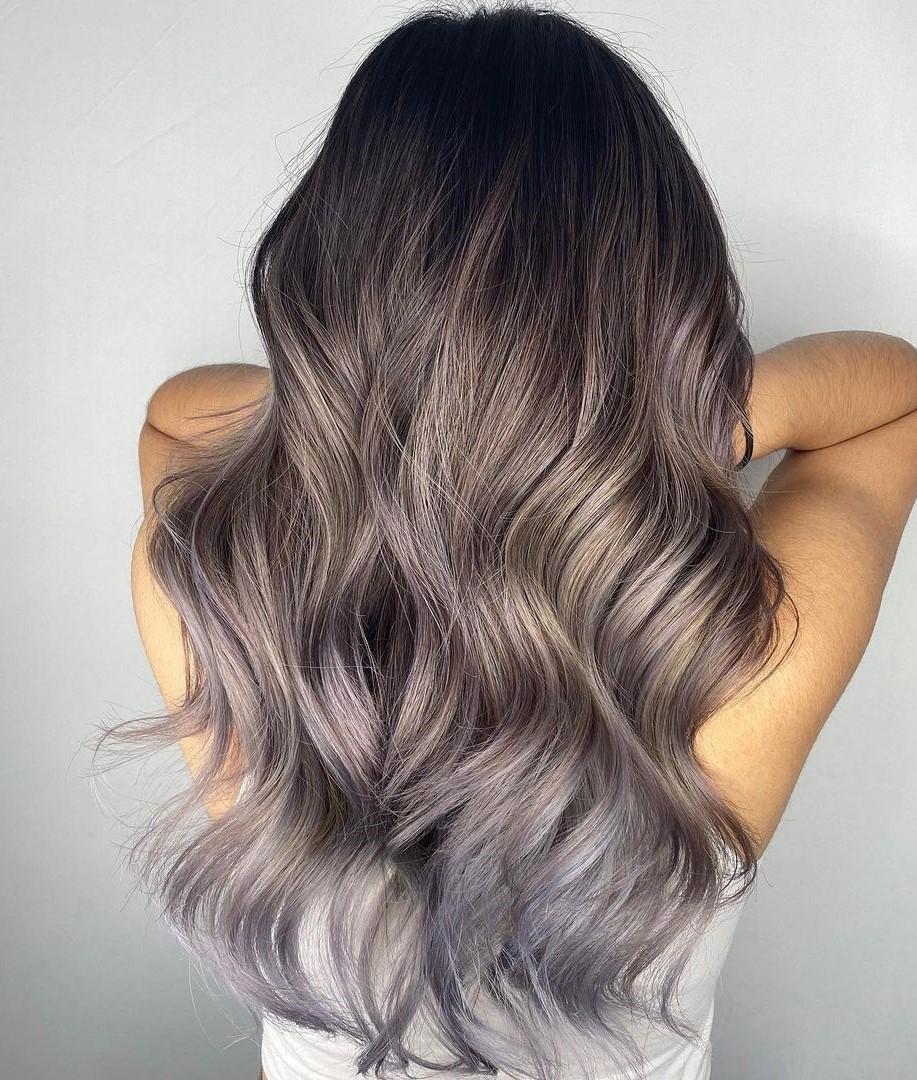 Mushroom Hair with Silver Tips