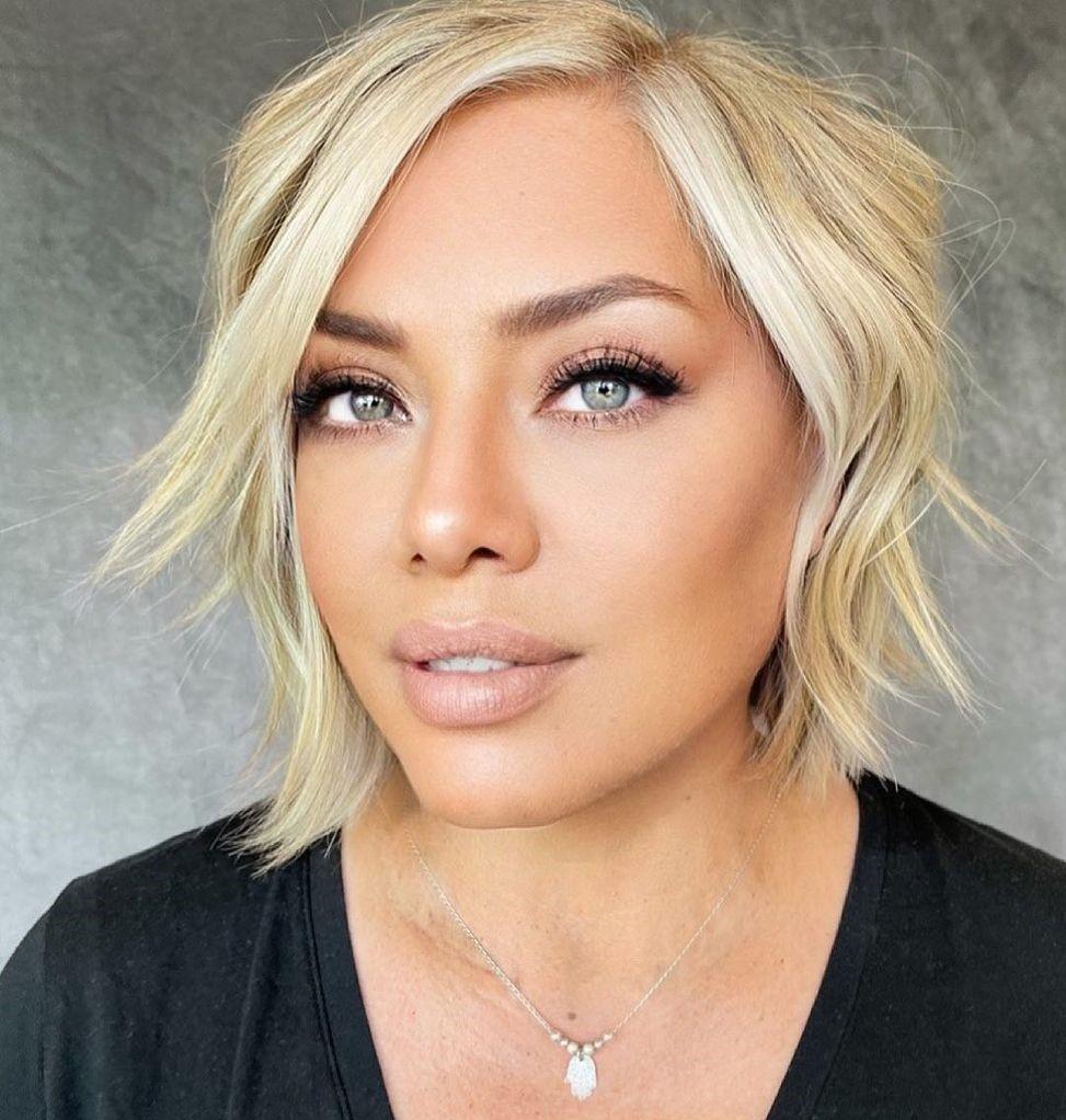 Short Haircut for a Diamond Face Shape