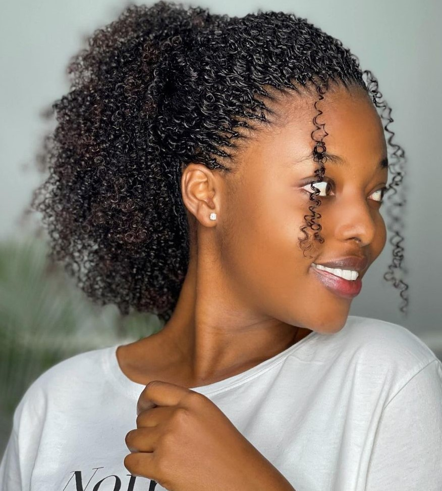Neat High Ponytail for Natural Hair