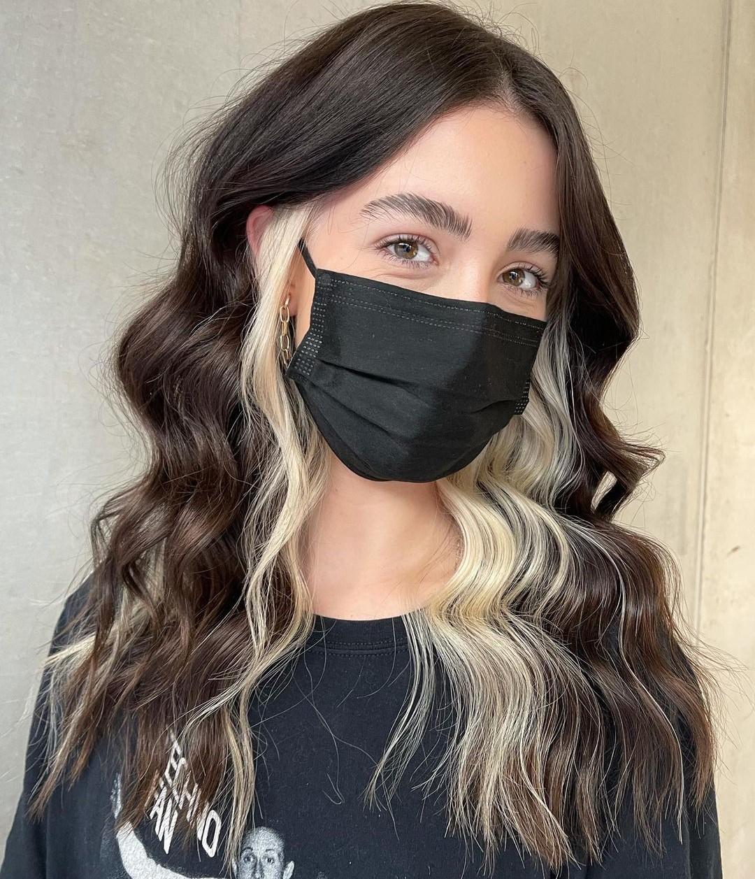 Dark Hair with Blonde Underlayer