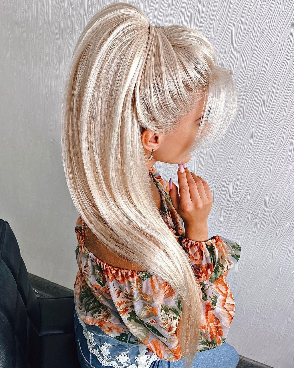 High Ponytail Updo with Volume