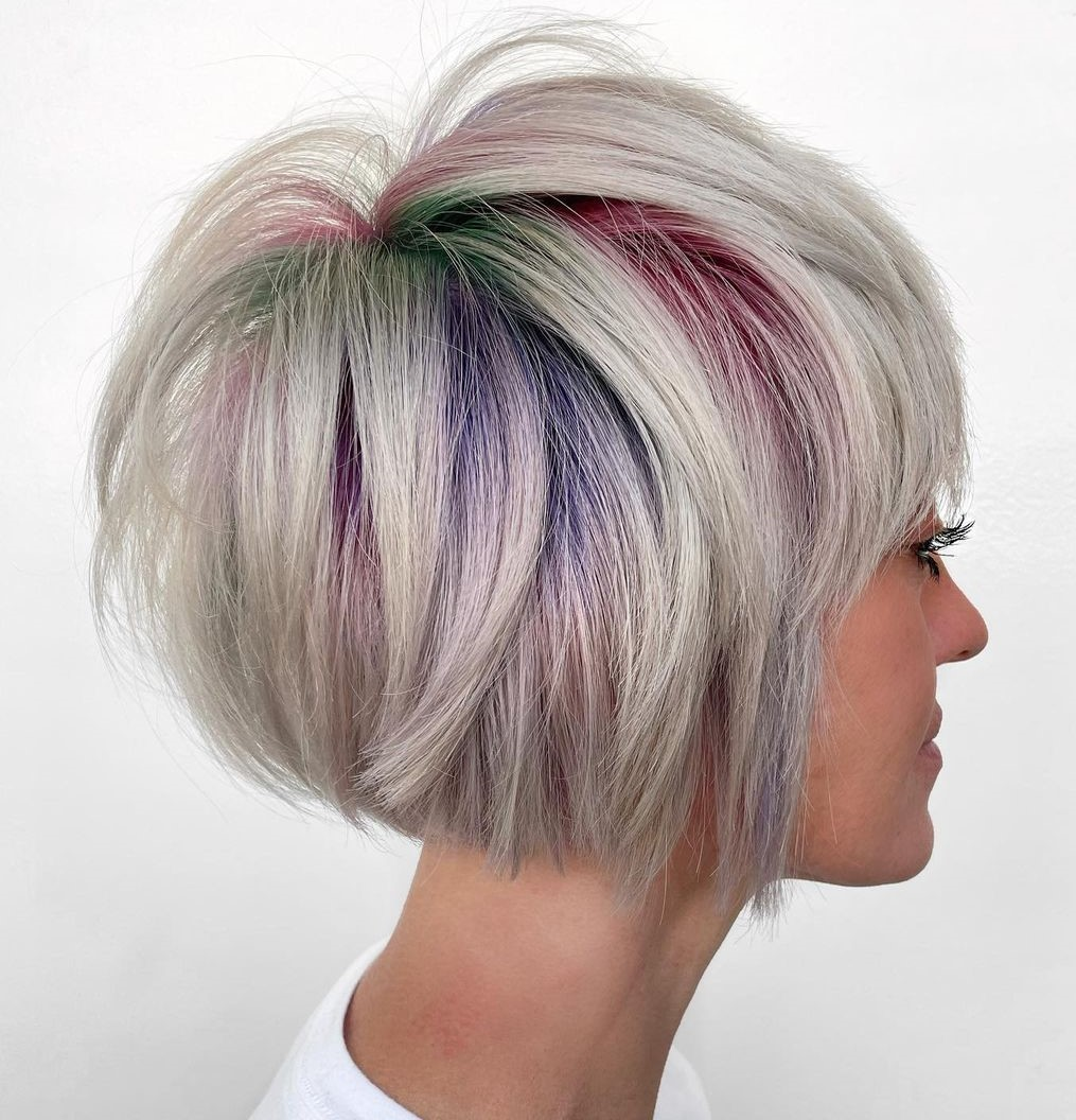 Pastel Peekaboo Highlights for Short Hair