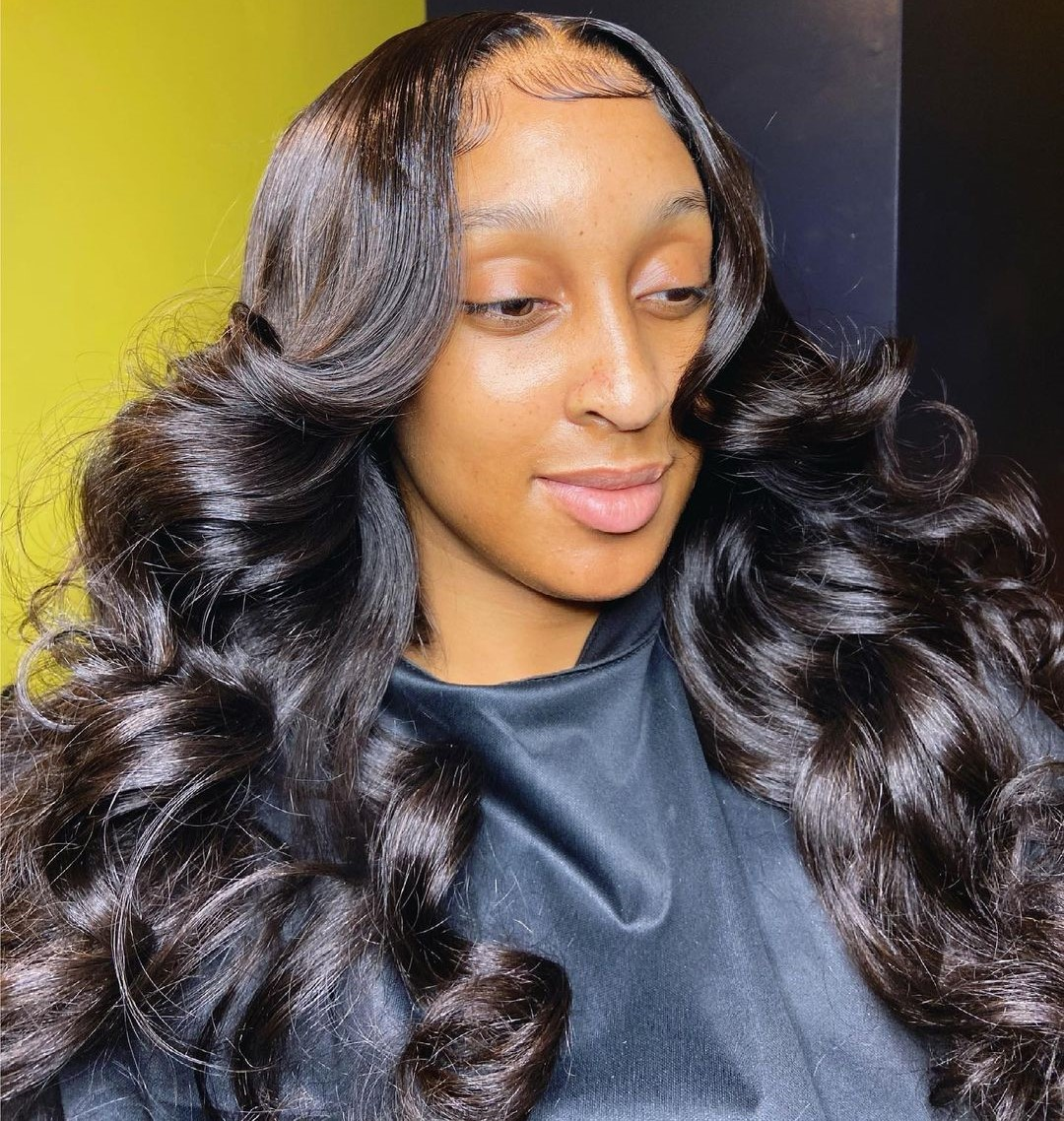 Voluminous Long Sew In Hairstyle