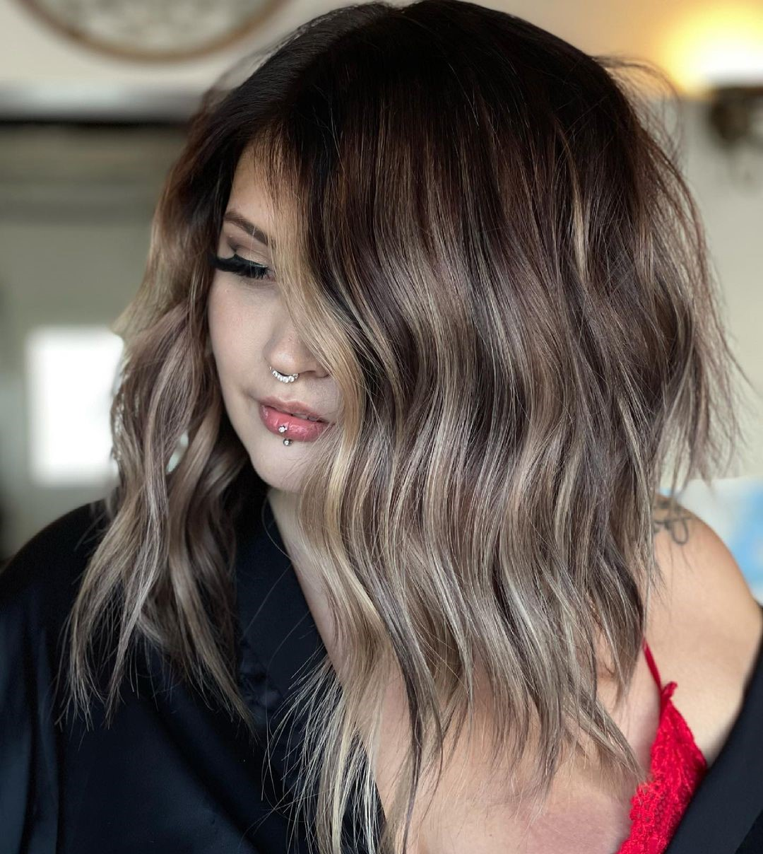 Growing Out Dark Hair with Highlights