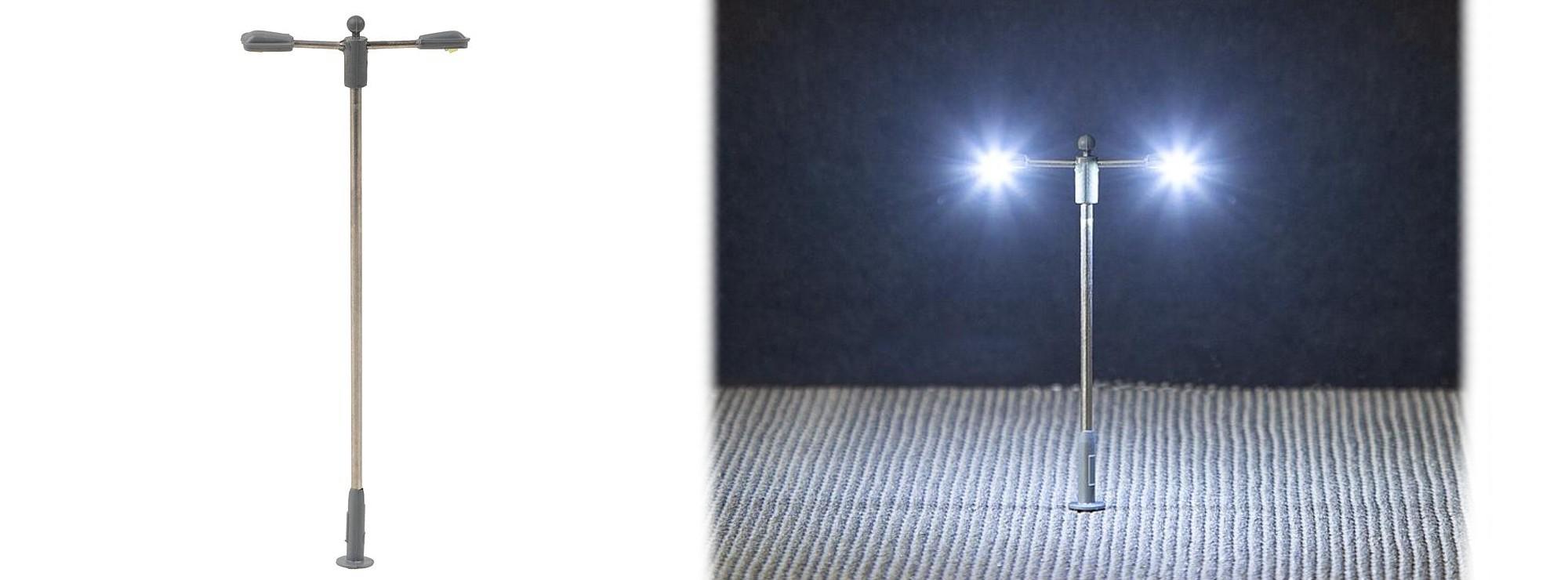 Faller 272223 Led Strassenleuche Doppelt Ansatzleuchte Fertigmodell Spur N Online Kaufen Bei Modellbau Hartle