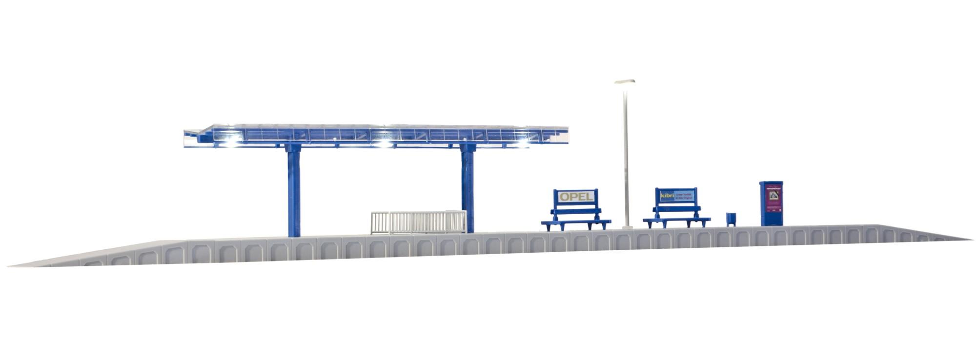 Kibri 39557 Moderner Bahnsteig Mit Led Beleuchtung Bausatz Spur H0 Online Kaufen Bei Modellbau Hartle