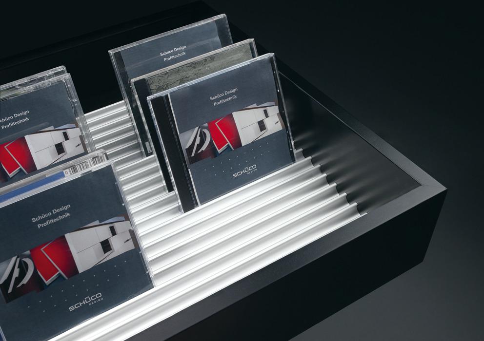 cd dvd profil en aluminium couleur