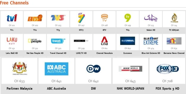 Unifi TV Free Channel