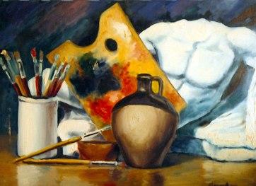 Bodegón. Óleo sobre lienzo, 50x70. 1990.