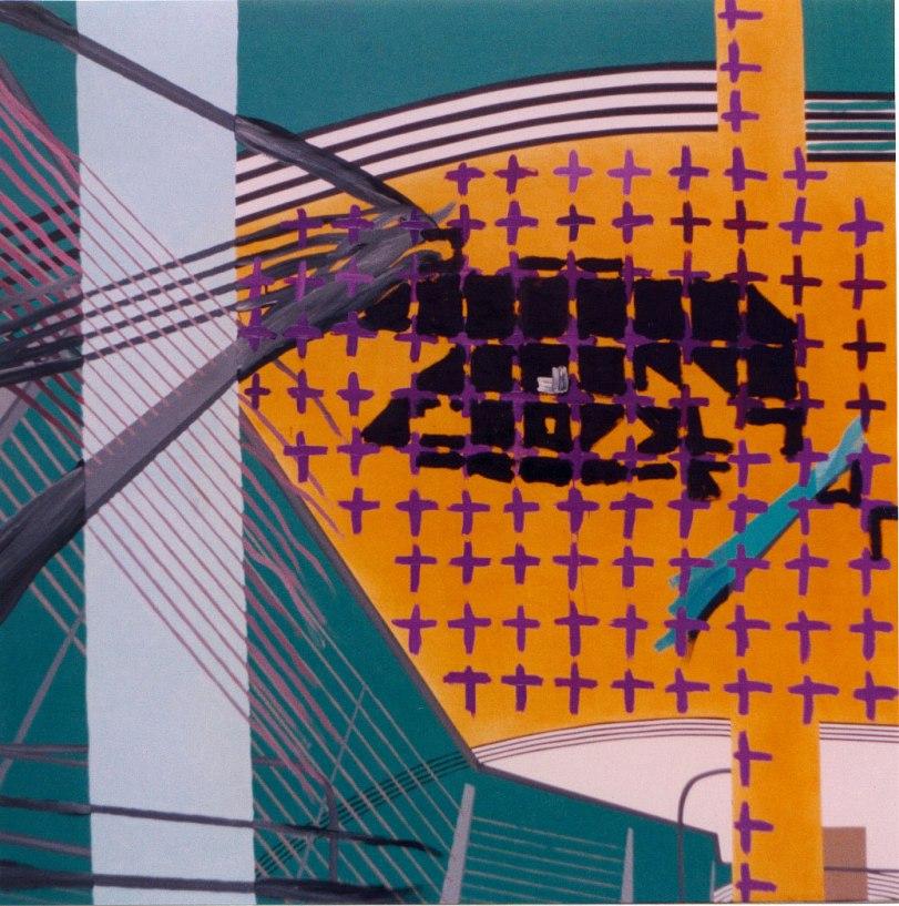 Dispositivo de control 2. Acrílico y óleo sobre lienzo, 195x180. 2000.