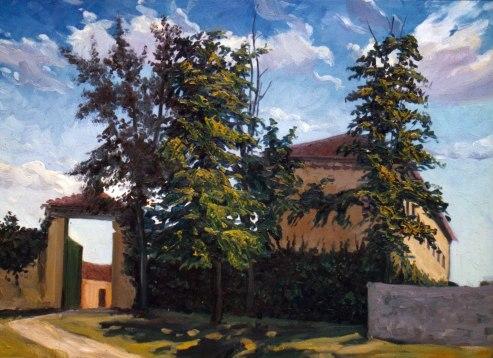 Finca de Segovia, Segovia. Óleo sobre lienzo, 60x90. 1997. Colección privada.