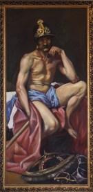 Copia del Marte de Velazquez. Oleo sobre lienzo, 140x40 cm, 1995
