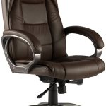 Alphason Office Chairs Northland Brown High Back Soft Feel Leather Executive Chair Office Chairs Hafren Furnishers