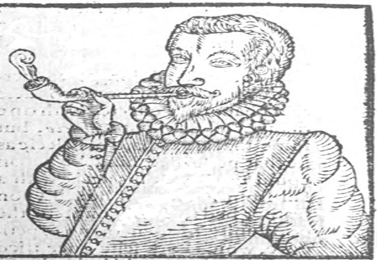 أقدم رسم لأوروبي يدخّن بواسطة الأنبوب.. يعود إلى العام 1595