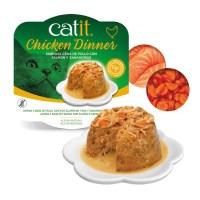 Catit Dinner de pollo, salmón y zanahoria con ingredientes