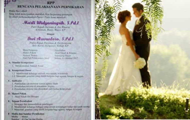 Begini jadinya kalau sesama Sarjana Pendidikan nikah, kompetensi dasar hingga tujuan pernikahan ada dalam undangan