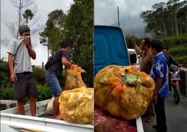 Kelakuan dua pemuda ini buang sampah di sungai bikin emosi, sudah diperingatkan masih saja ngeyel!