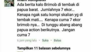 Minta dicyduk! Pria ini nekat hina anggota Brimob yang tewas tertembak di Papua