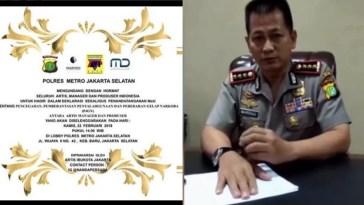 Beredar undangan 'bersedia berhenti jadi artis jika terbukti menyalahgunakan narkoba', ini kata polisi