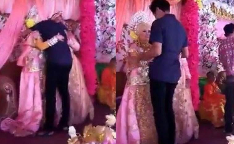 Heboh video pengantin wanita pingsan dipelukan tamu, ini kisah sebenarnya dibalik peritiwa itu