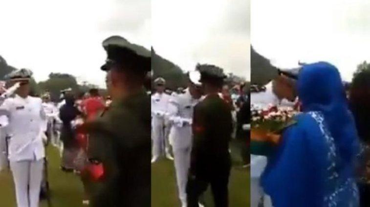 Ayah berpangkat Kopral ini hormat pada anaknya yang baru lulus Letnan, potretnya bikin haru