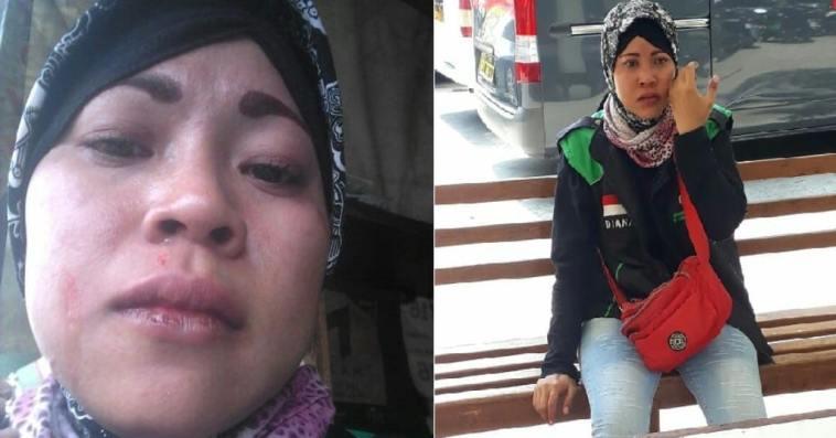 Dapat orderan jemput customer di Stasiun Manggarai, driver ojek online wanita ini dipukuli tukang ojek pangkalan