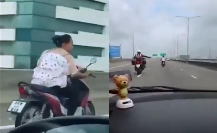 Aksi emak-emak masuk jalan tol kejar-kejaran dengan polisi, videonya viral