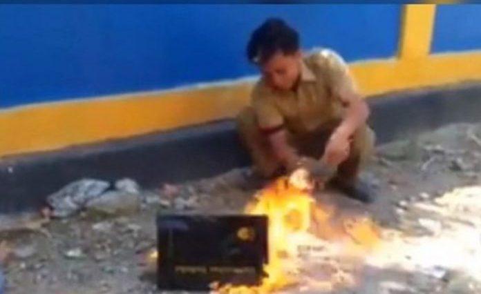 Video viral! Gara-gara tidak lulus CPNS, guru honorer di Sulawesi Tenggara ini bakar ijazah asli S1 miliknya