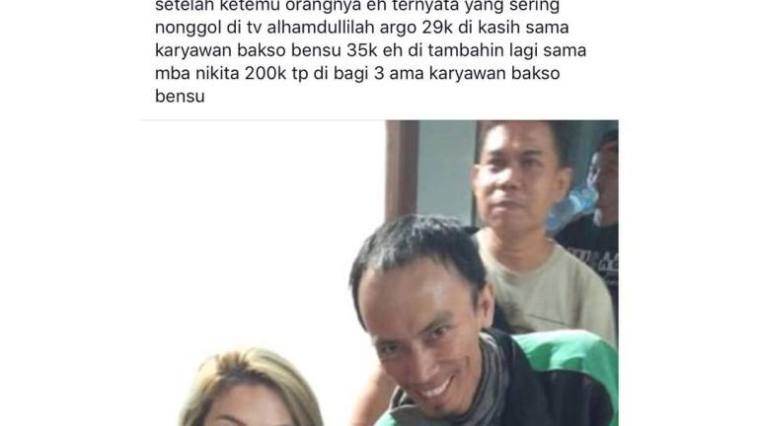 Dapet orderan GrabFood dari Nikita Mirzani, Driver ojek online ketiban durian runtuh