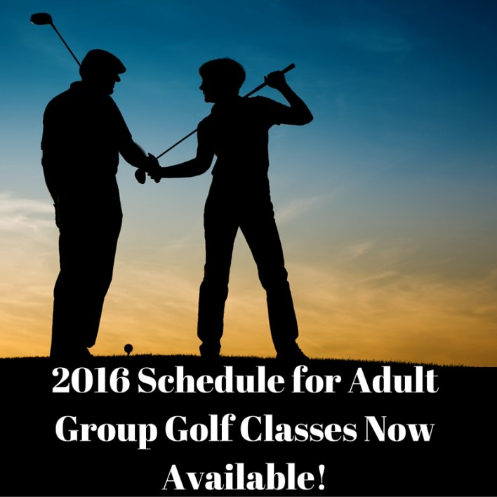 2016 Adult Class Schedule Now Available