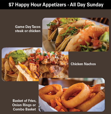 $7 Happy Hour Appetizer Specials at MacKenzie's Sports Bar and Grille