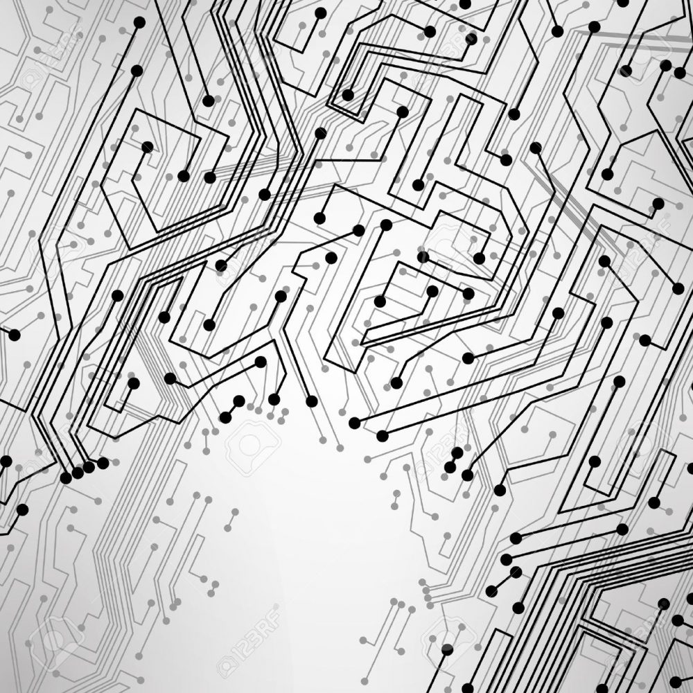 12719246 Circuit Board Background Technology Illustration Stock Computer Chip Banner