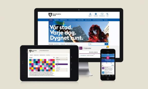 Olika exempel hur profilen ser ut på webben