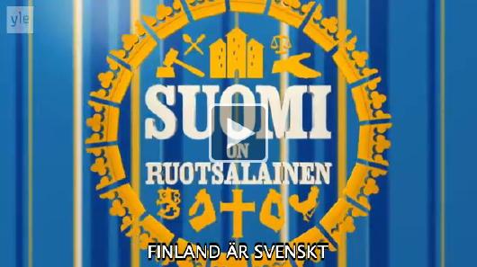 Introbild till Finland är svenskt, med symboler för rättsväsende, skola, senap m m