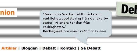 Skärmdump från SVT Opinion