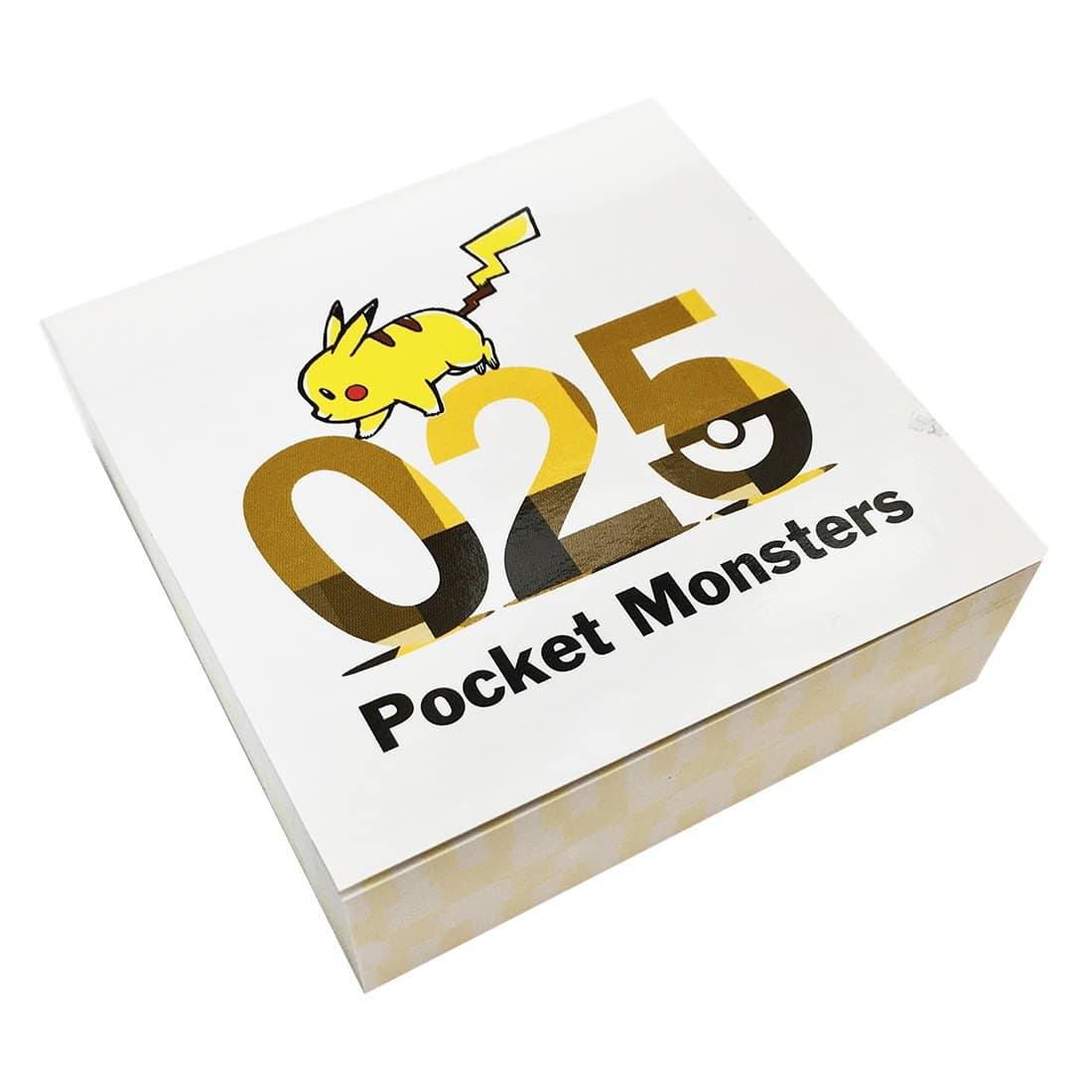 ポケットモンスター ブロックメモ ピカチュウ025