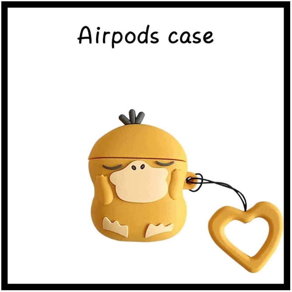 ポケモン pokemon コダック カップル アップル Airpodsケース かわいい Airpodsカバー シリコンケース airpods1/2 エアポッド シリコン 3D 漫画 シリコンカバー 全面保護 収納 バッグ 耐衝撃 紛失防止 人気 プレゼント (airpods1/2)