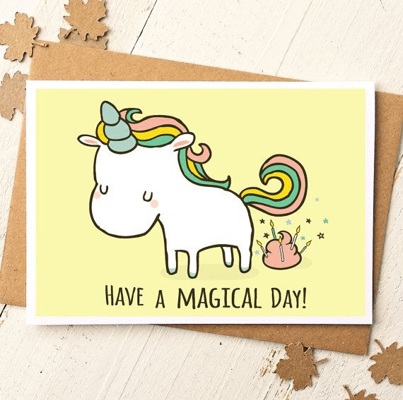 Have a magical day funny greeting card